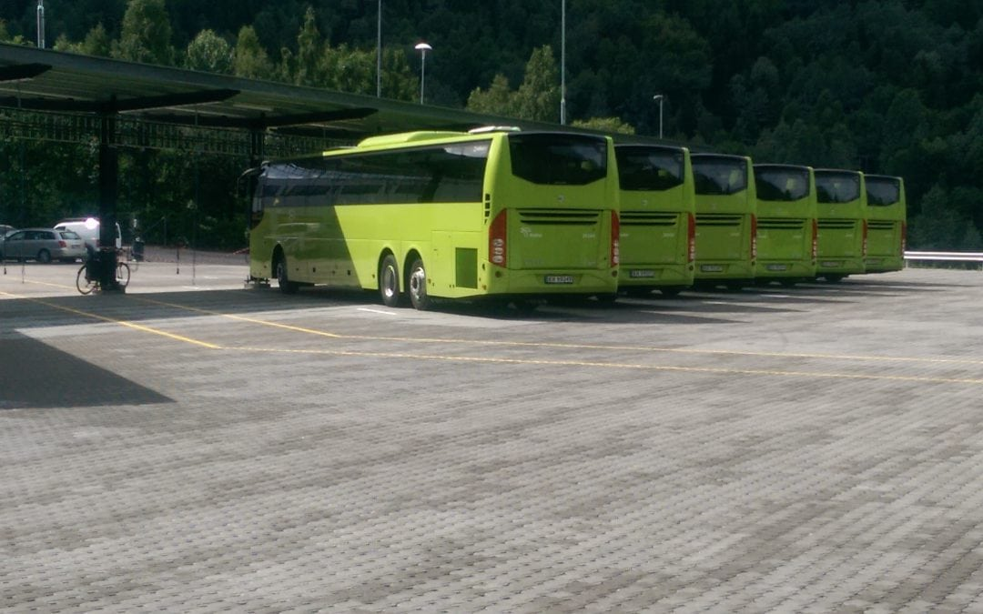 Brakar bussdepot i Drammen