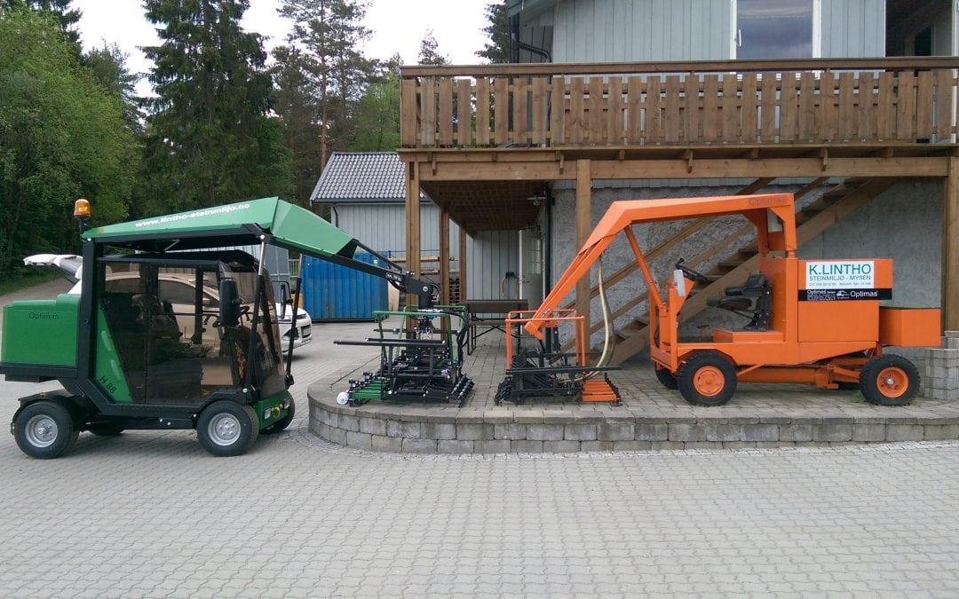 Lintho Steinmiljø AS har lagt 2.500 000 m2 med belegningsstein!