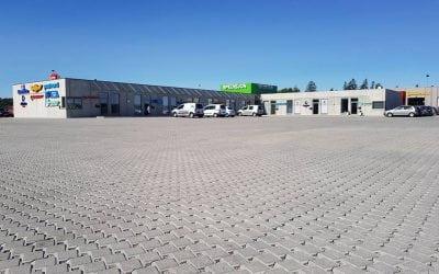 Permeable dekker på Svinesund Transportsenter