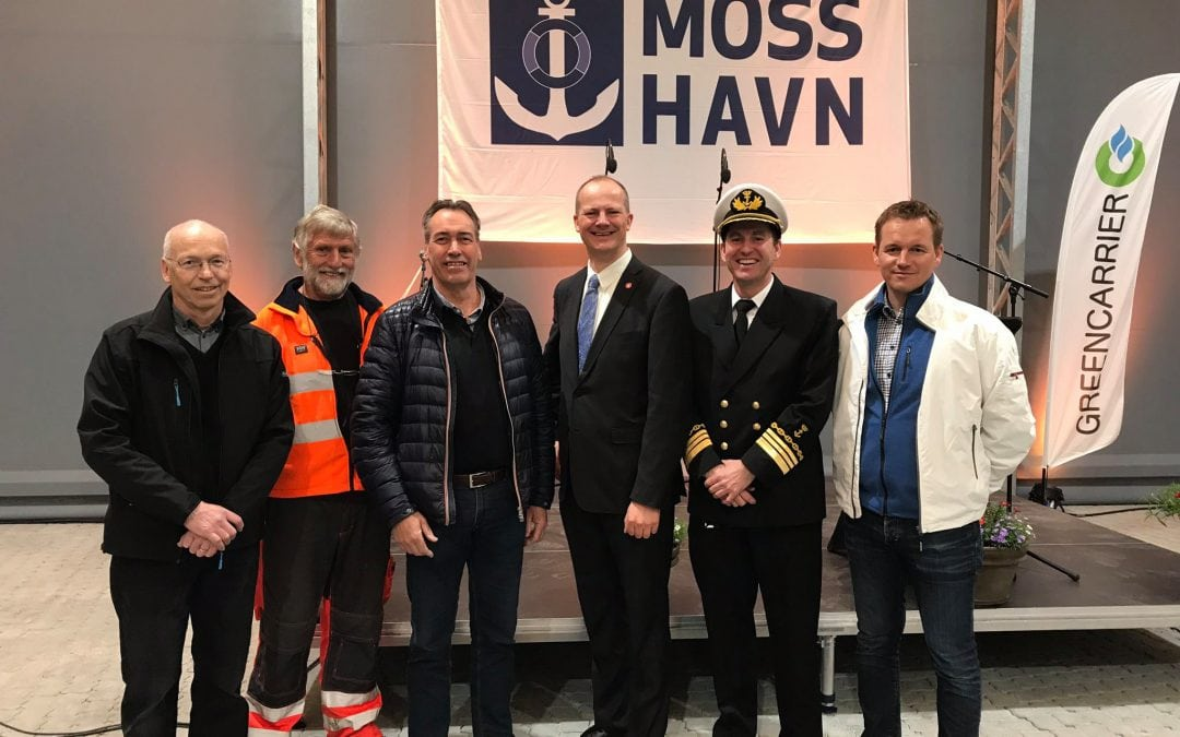 Storslagen åpning av Moss Havn Dryport i dag!