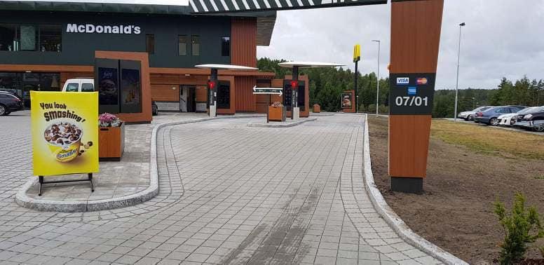 McDonalds ved Svinesund Transportsenter